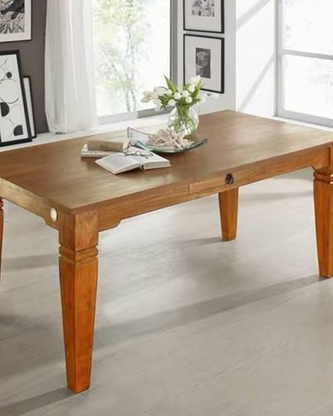 Bighome.sk CAMBRIDGE HONEY Jedálenský stôl s dvoma zásuvkami 200x100 cm, akácia