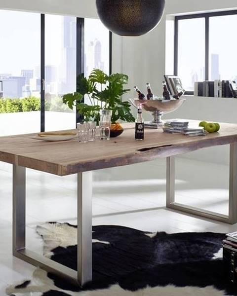 Bighome.sk METALL Jedálenský stôl 150x100 cm, akácia