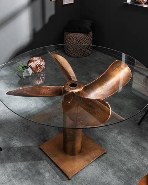 Bighome.sk Sklo na vrtuľu na jedálenský stôl LA MER 105 cm