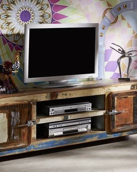 Bighome.sk TESORI TV stolík 180x42 cm, staré drevo