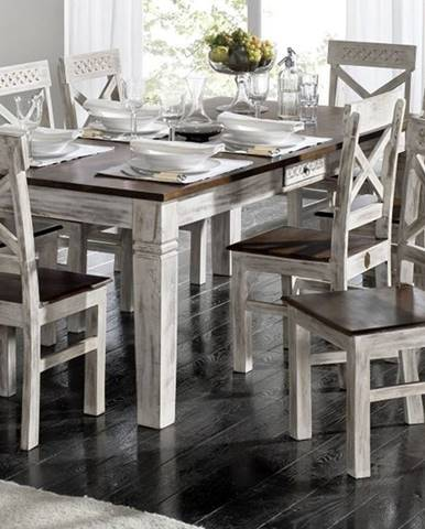 ANTIK Jedálenský stôl 210x100 cm, mango a akácia