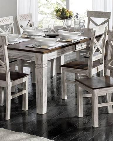 ANTIK Jedálenský stôl 90x90 cm, mango a akácia