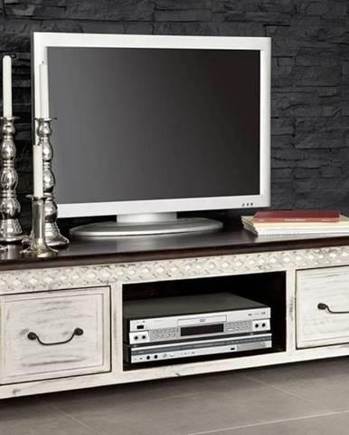 ANTIK TV stolík 135x60 cm, mango a akácia