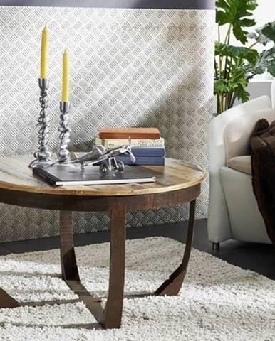 INDUSTRY Konferenčný stolík 75x75 cm, staré drevo