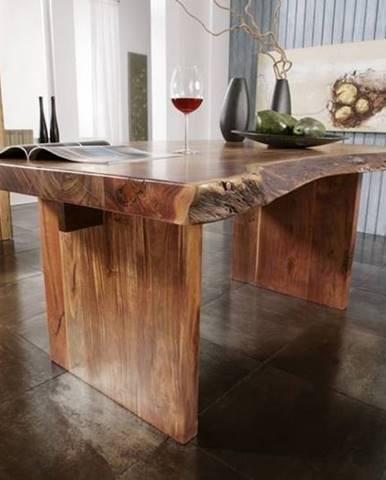METALL Jedálenský stôl 270x110 cm, akácia