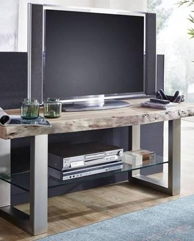METALL TV stolík 150x55 cm, akácia
