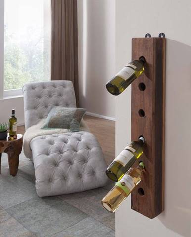OLDTIME Regál na víno 13x90 cm, staré drevo