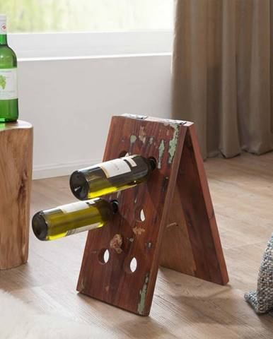 OLDTIME Regál na víno 25x45 cm, staré drevo