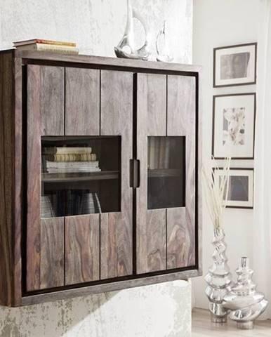 PLAIN SHEESHAM Vitrína 100x110 cm, palisander