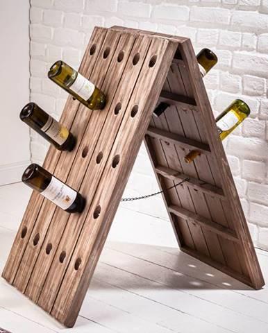 Regál na víno CASK 91 cm