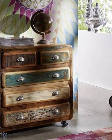 TESORI Komoda so zásuvkami 90x90 cm, staré drevo