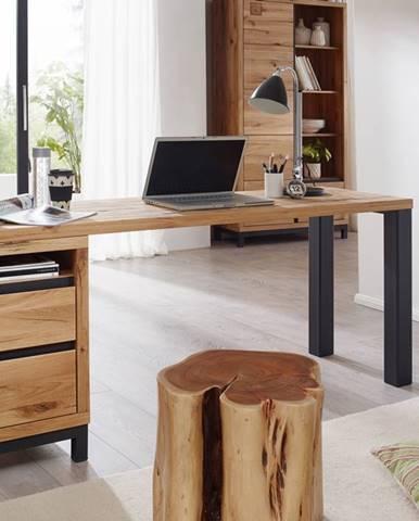 TIROL Písací stôl s poličkou 150x55 cm, prírodná, dub