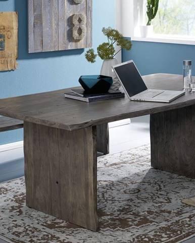 WOODLAND Jedálenský stôl 160x100 cm, sivá, akácia