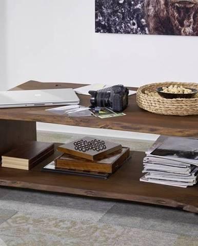 WOODLAND Konferenčný stolík s poličkou 120x70 cm