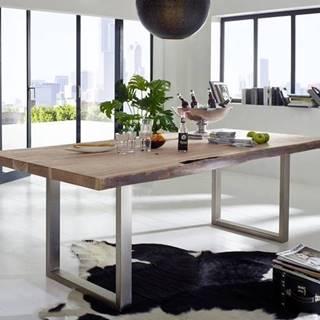 METALL Jedálenský stôl 150x100 cm, akácia