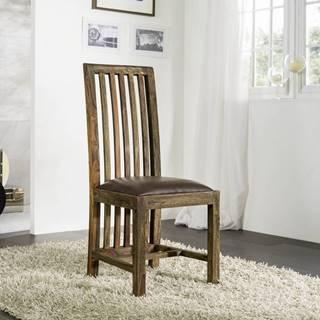 PLAIN SHEESHAM Jedálenská stolička drevená