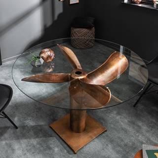 Sklo na vrtuľu na jedálenský stôl LA MER 105 cm