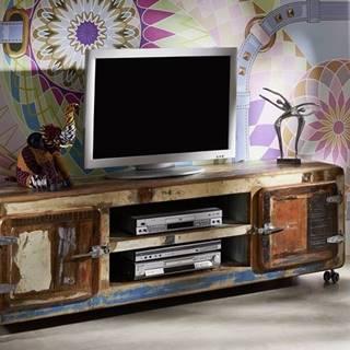 TESORI TV stolík 180x42 cm, staré drevo