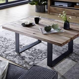 VEVEY Konferenčný stolík 110x70 cm, svetlohnedá, dub