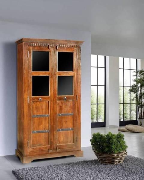 Bighome.sk CAMBRIDGE HONEY Vitrína 176x98 cm, akácia