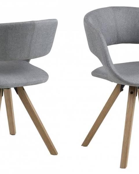 Bighome.sk Jedálenská stolička GRACE, svetlosivá