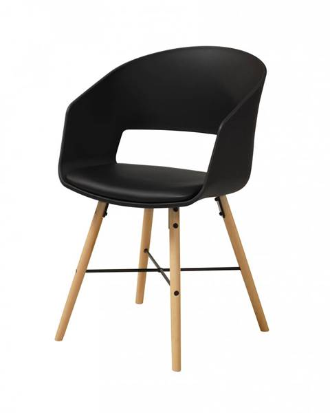 Bighome.sk Jedálenská stolička s opierkami LUNA, čierna
