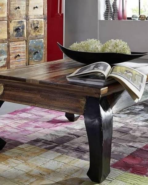 Bighome.sk OLDTIME Konferenčný stolík 80x80 cm, staré drevo