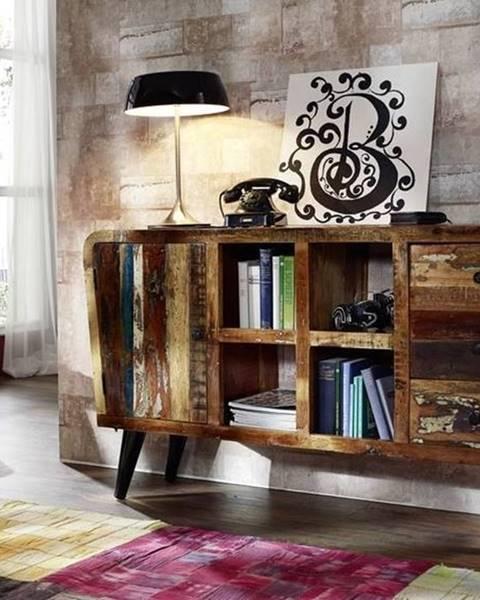 Bighome.sk RETRO TV stolík 150x86 cm, staré drevo