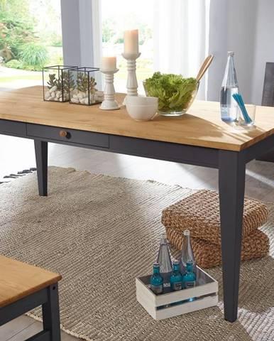 BIANCA Jedálenský stôl 180x90 cm, borovica, sivá