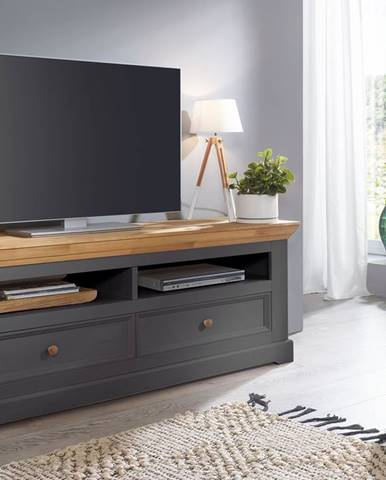 BIANCA TV stolík 169x63 cm, borovica, sivá