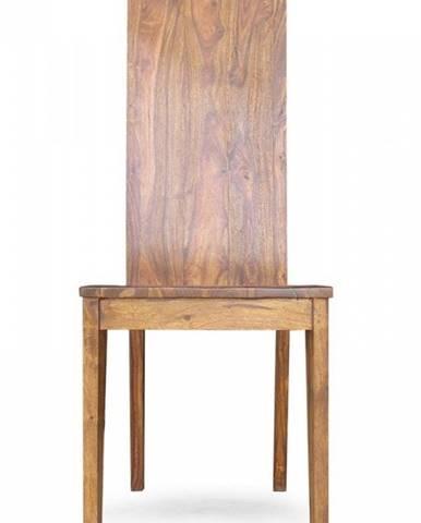 DAKOTA Stolička drevená – plné operadlo, palisander