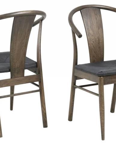 Jedálenská stolička JANIK, hnedá