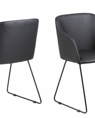 Jedálenská stolička s opierkami CASABLANCA, čierna
