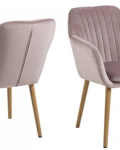 Jedálenská stolička s opierkami EMILIA, ružová