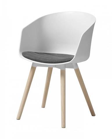 Jedálenská stolička s opierkami MOON, biela