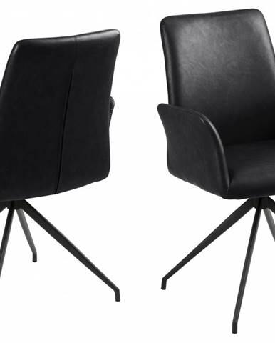 Jedálenská stolička s opierkami NAYA, čierna