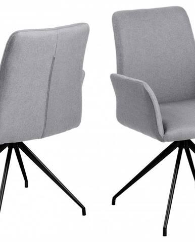 Jedálenská stolička s opierkami NAYA, svetlosivá