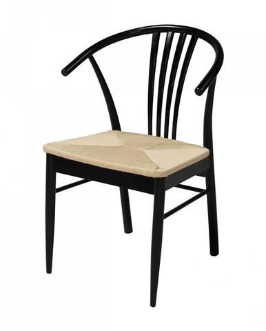Jedálenská stolička YORK, čierna