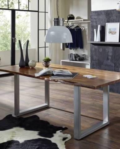 METALL Jedálenský stôl 180x100 cm, akácia