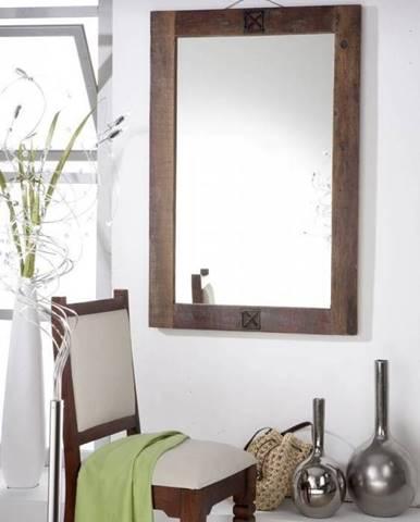 OLDTIME Zrkadlo 100x88 cm, staré drevo