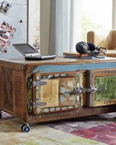 TESORI Príručný stolík 90x60 cm, staré drevo