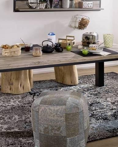 TIROL Jedálenský stôl 220x100 cm, svetlohnedá, dub