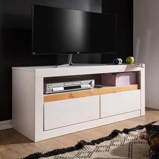 ALBURY TV stolík 110x49 cm, borovica, biela