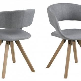Jedálenská stolička GRACE, svetlosivá