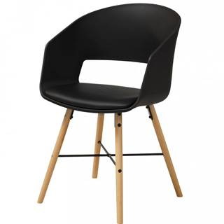 Jedálenská stolička s opierkami LUNA, čierna