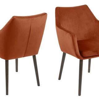 Jedálenská stolička s opierkami NORA, terakota