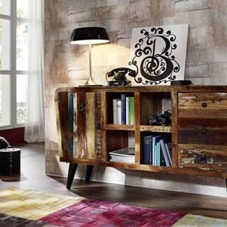 RETRO TV stolík 150x86 cm, staré drevo