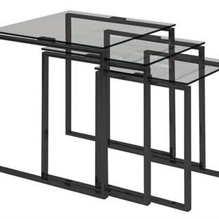 Set konferenčných stolíkov KATRINE, číra, antracitová