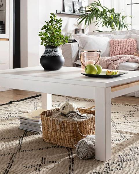 Bighome.sk ALBURY Konferenčný stolík 110x70 cm, borovica, biela