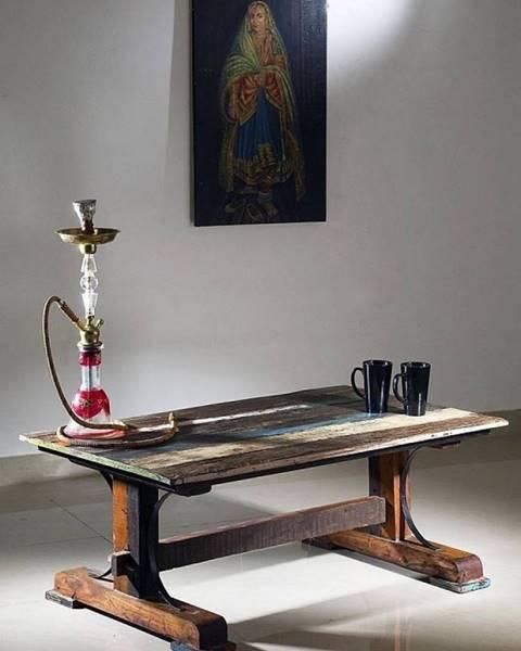 Bighome.sk OLDTIME Konferenčný stolík 120x70 cm, staré drevo